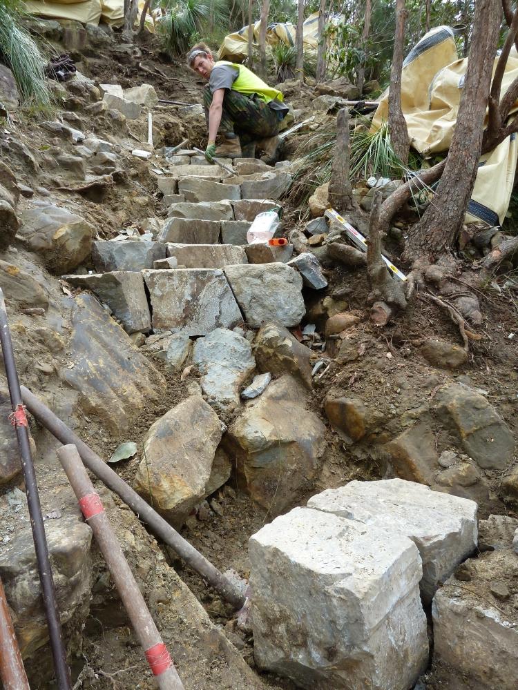 Constructing steps