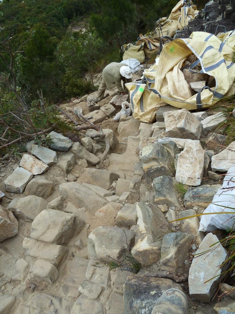 Laying stones