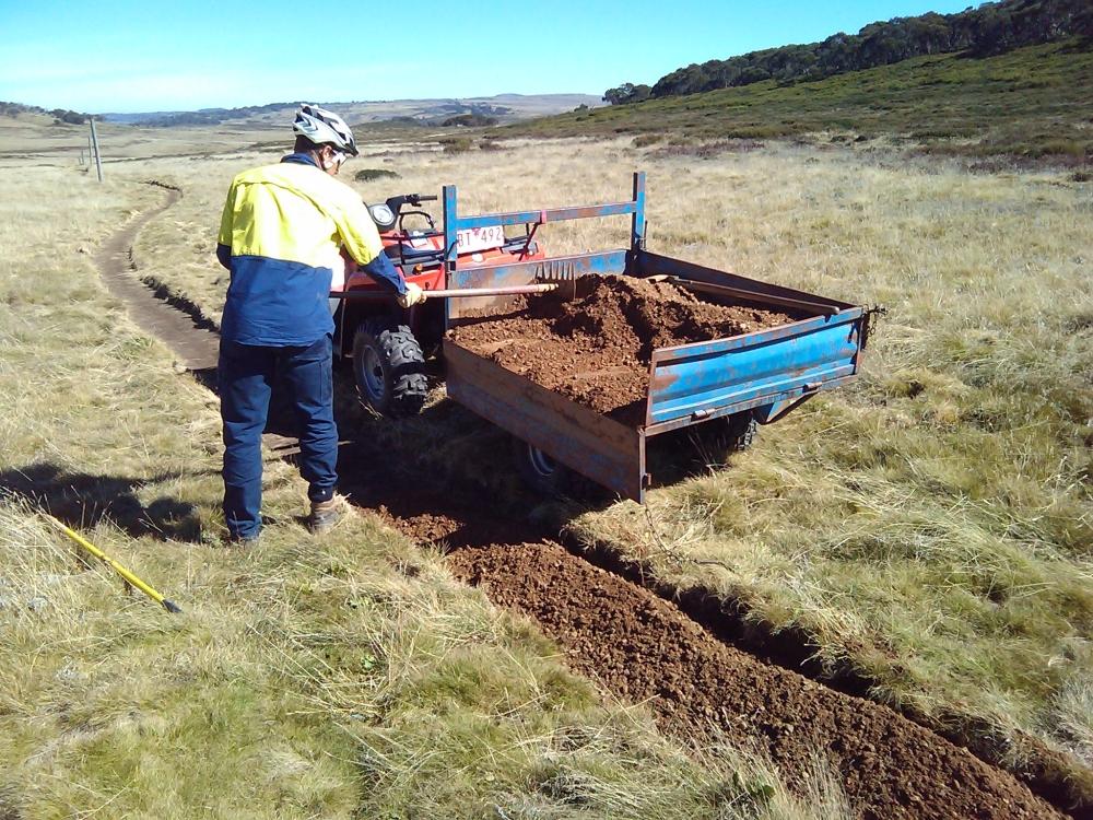 Laying gravel