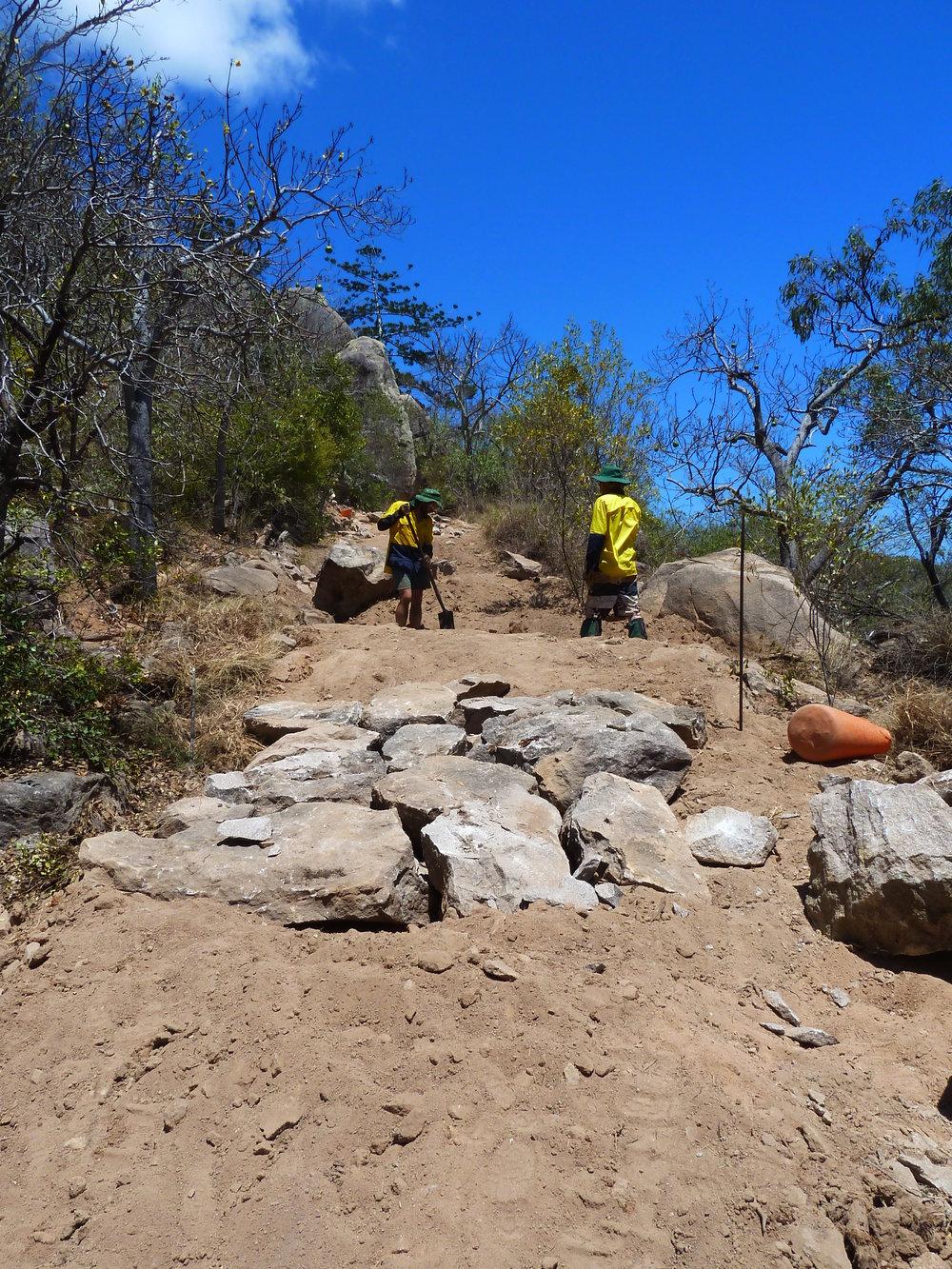 Stone Track Reinforcement