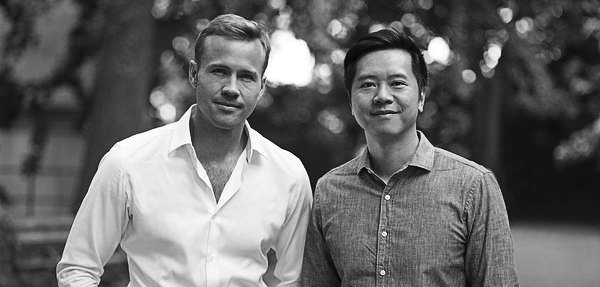 Jimmy (right) with co-founder Matthew Stuart