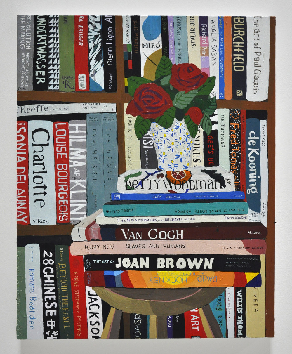 "Hilary Pecis, ""Books"", 2018, Acrylic on Canvas, 24 x 20in"