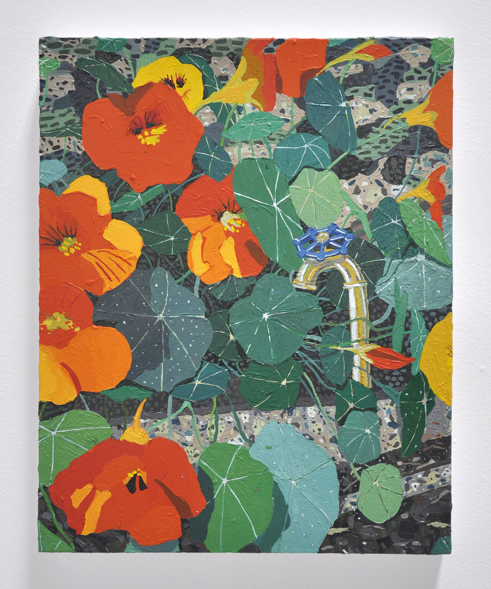 "Hilary Pecis, ""Nasturtiums"", 2018, Acrylic on Canvas, 20 x 16in"