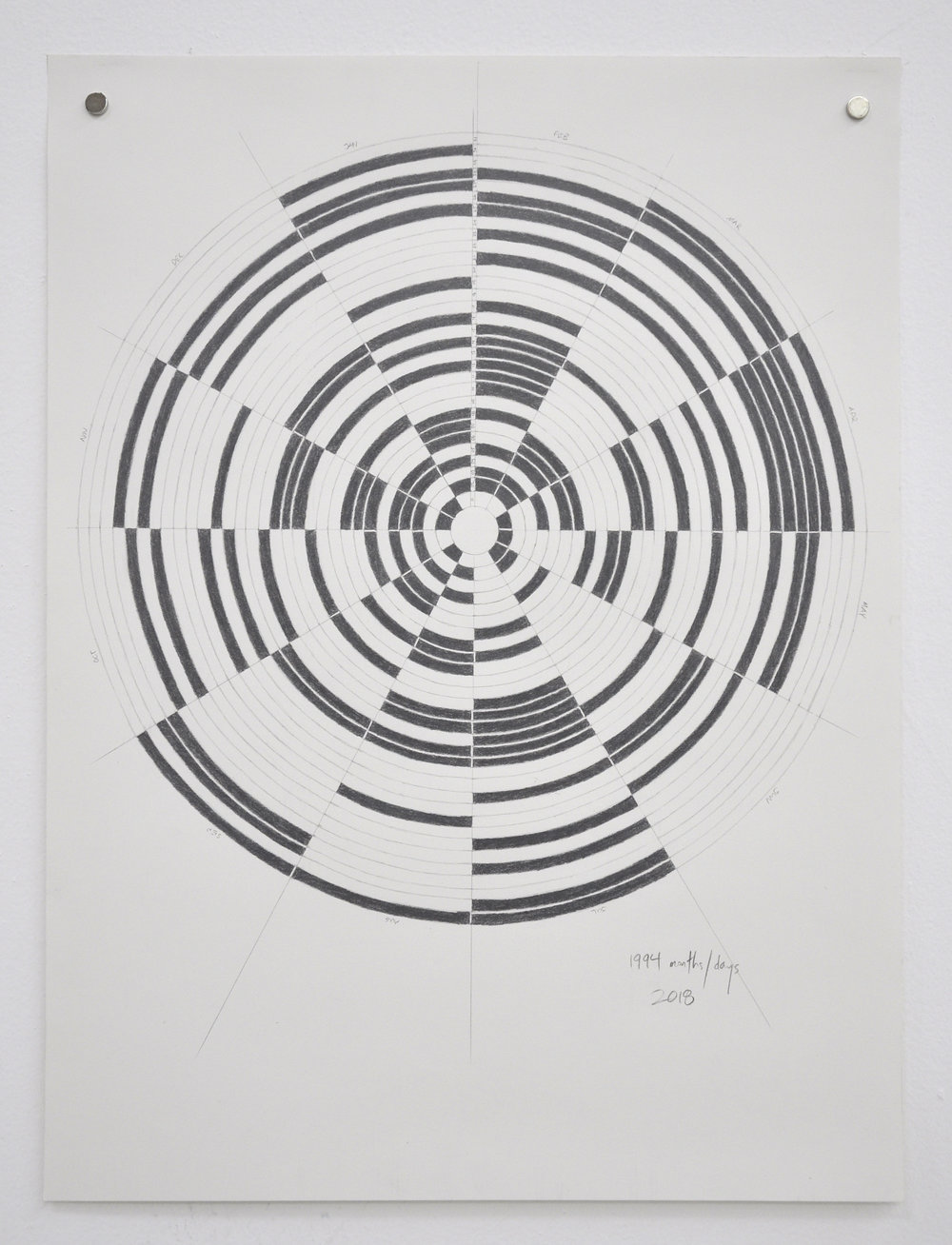 Annette Lawrence, 1994, Graphite on paper, 24 x 18in, 2018
