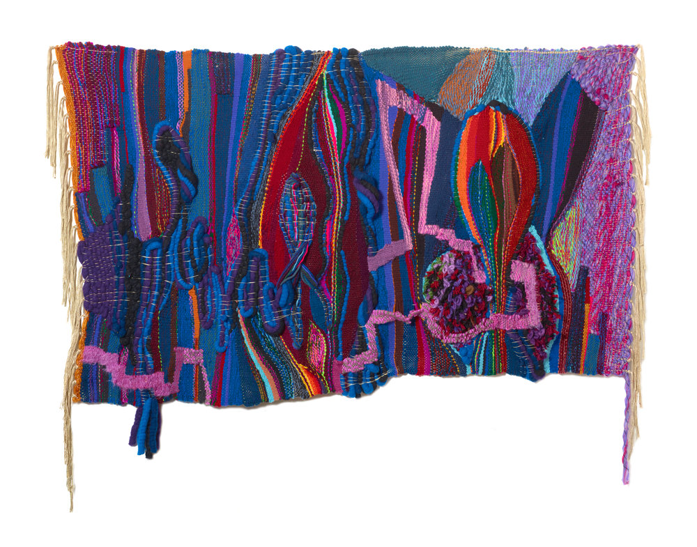Terri Friedman Nobody is Going Anywhere, 2019, 36 x 57, wool, cotton, acrylic, metallic fibers, $8000