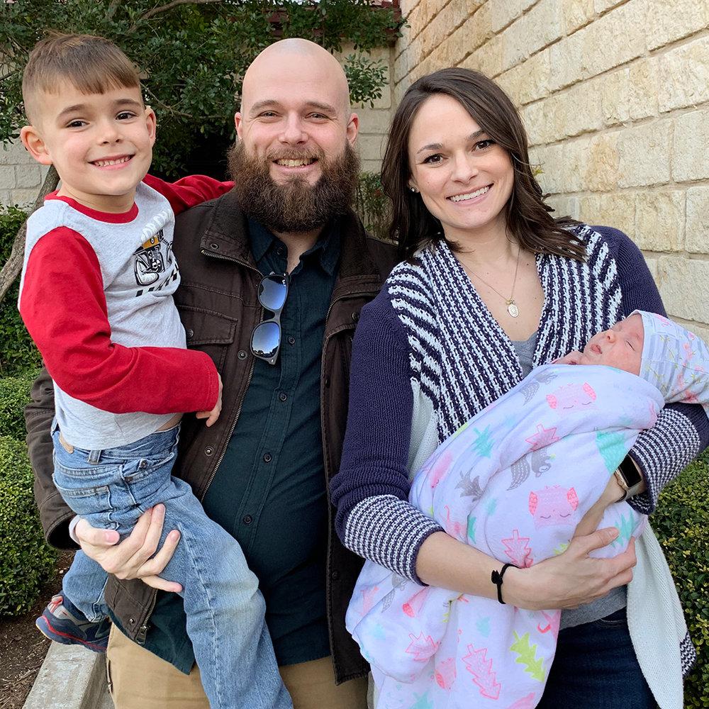 Garrison II, Garrison, Savannah, and Mayleigh