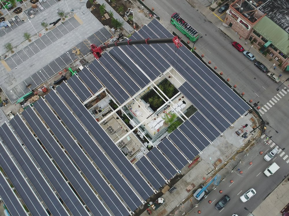 Rooftop tree installation