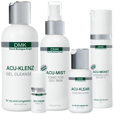 ACU SYSTEM   DMK's unique acne formulations featuring the latest advances and a new approach in acne treatment