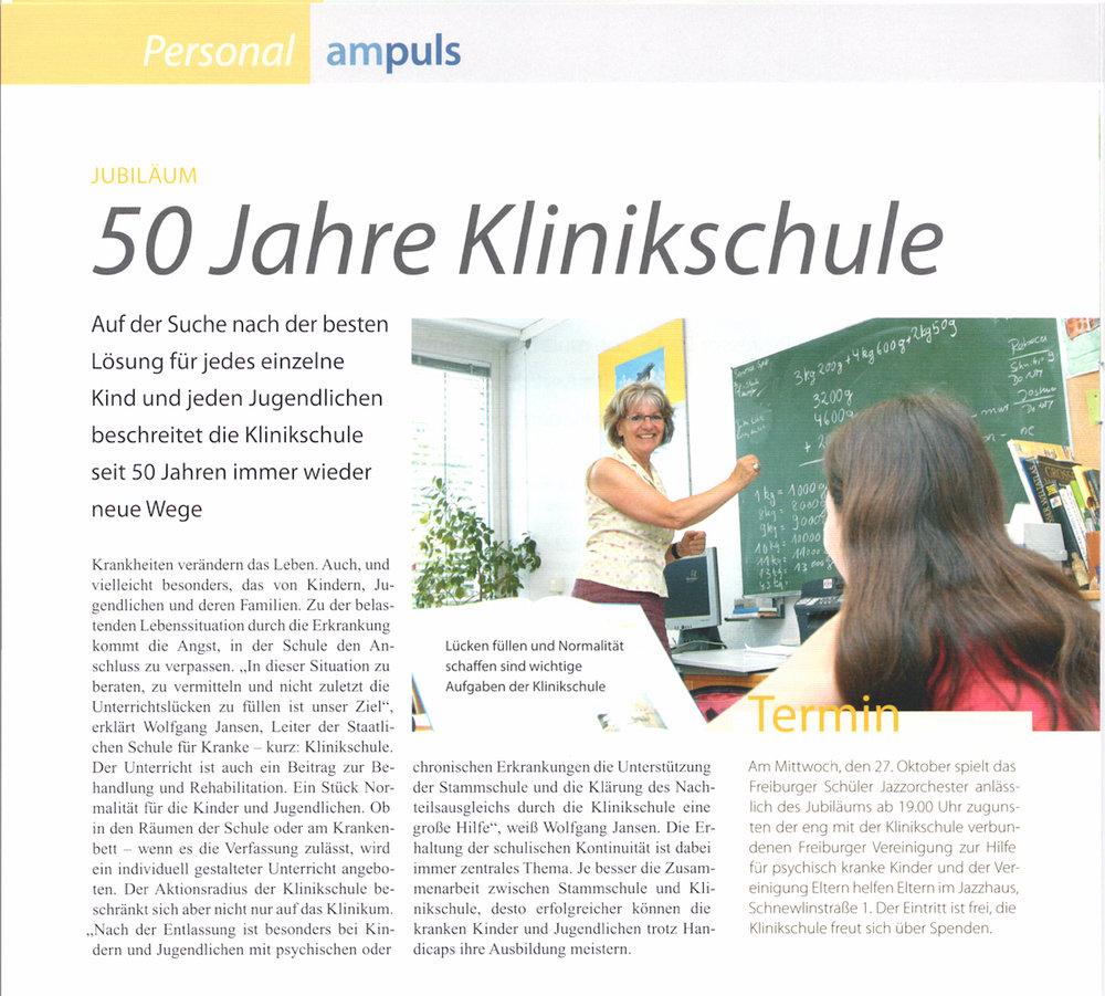 ampuls, 50 Jahre Klinikschule