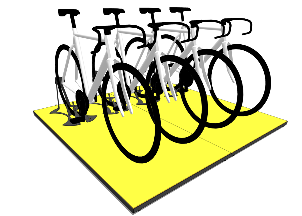 BRanding pad - The Branding Pad allows you to group bikes in a way that's simple and organised. It works great in conjunction with our Grand Stands and comfortably fits four bikes per pair.