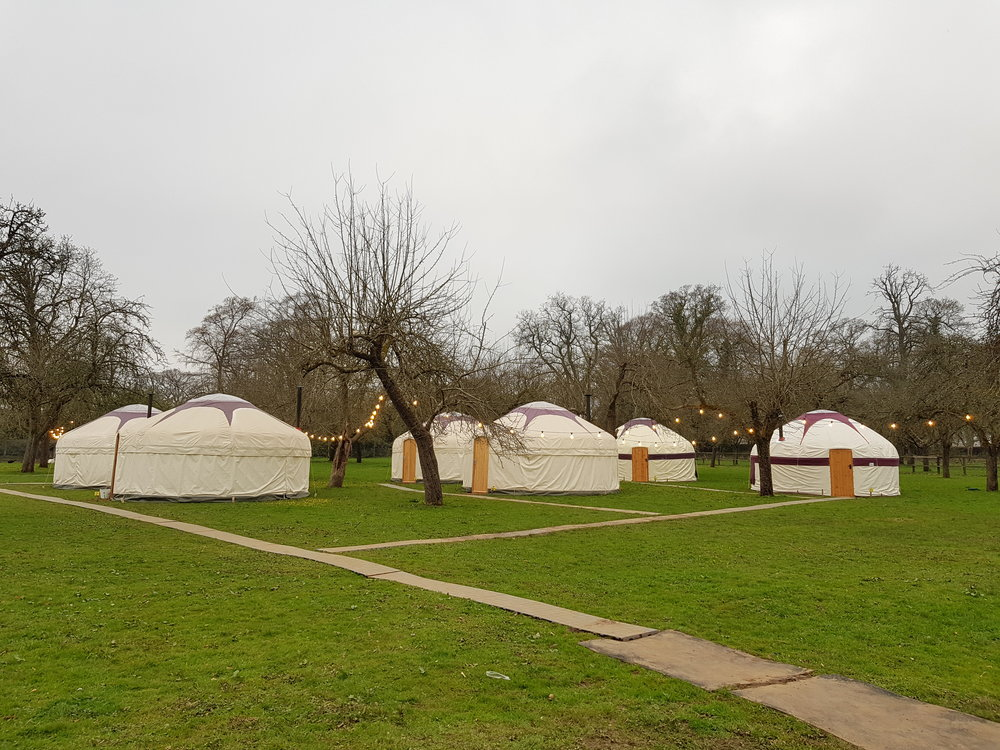 Somerset Wedding venue accommodations, the tents