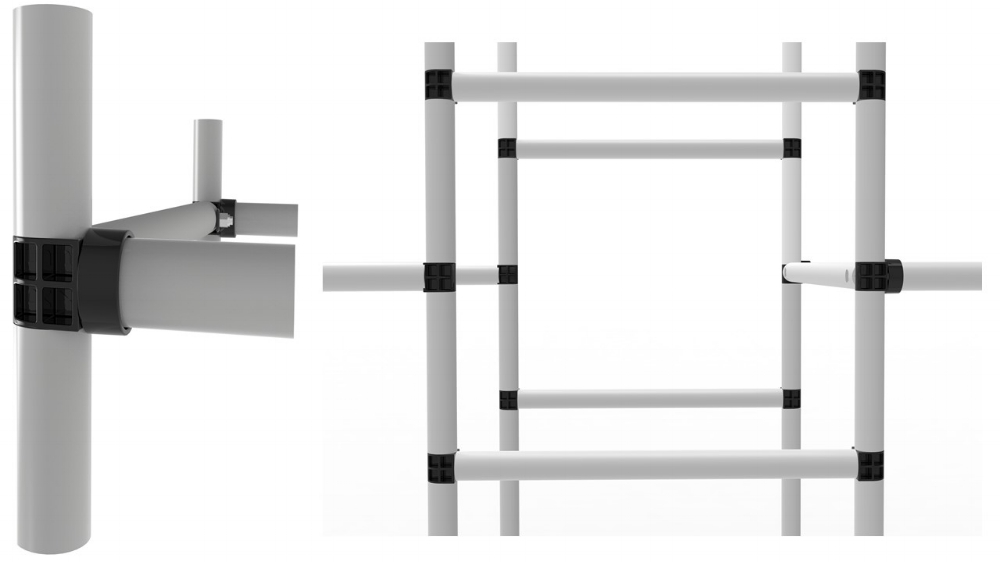 The cross-tube is easy to position between the opposite cage sides. There are six central locations to choose between.