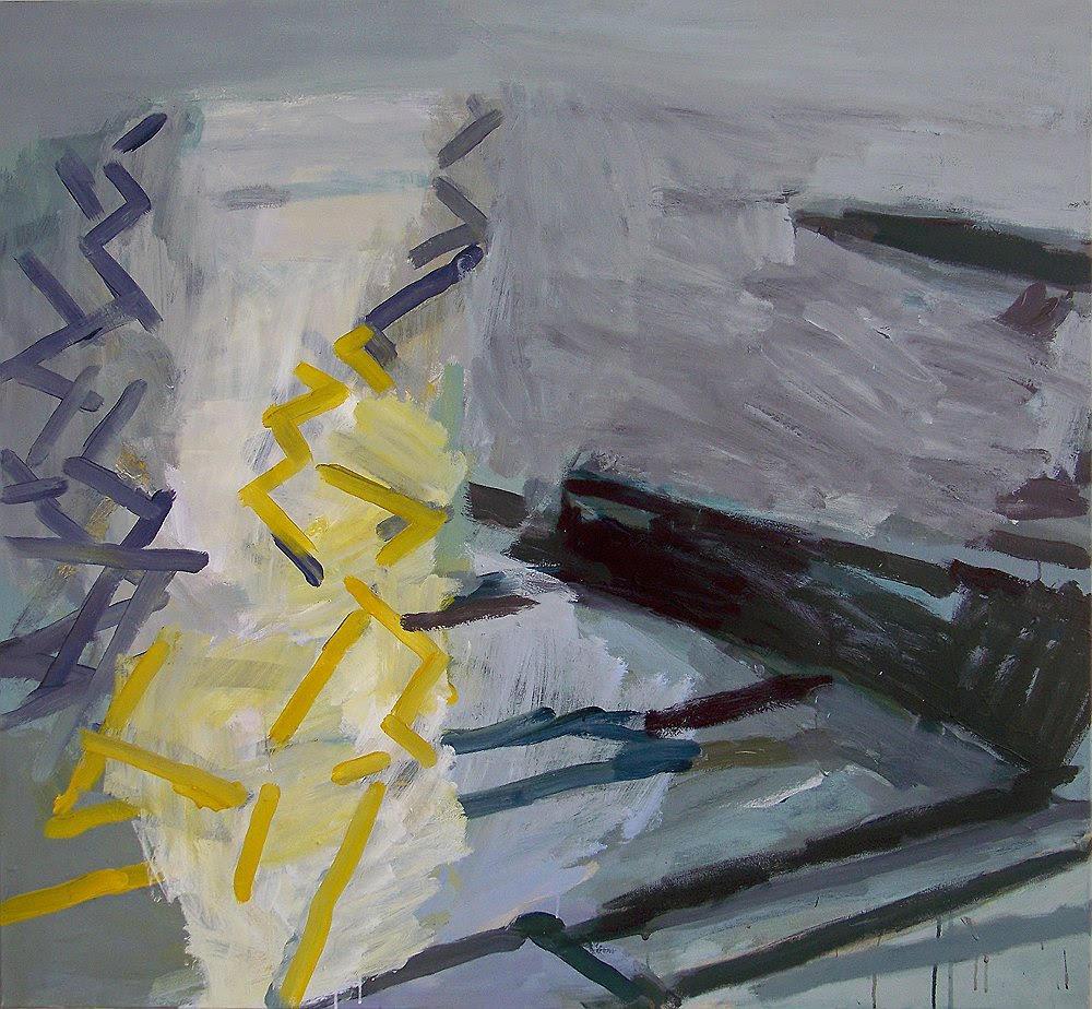Light on the Sea , 2011. Acrylic on canvas, 120 x 130 cm