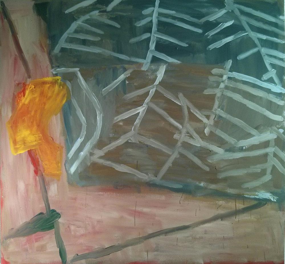 High Tide , 2015. Acrylic on canvas, 140 x 150 cm