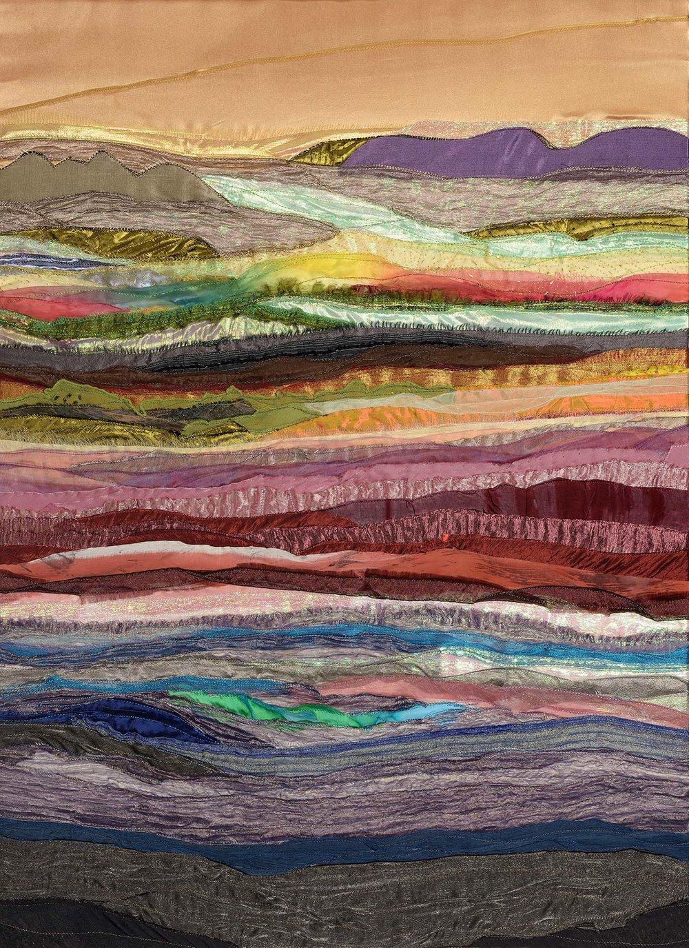 Timelessness of Landscape , Textile, 50 x 87 cm