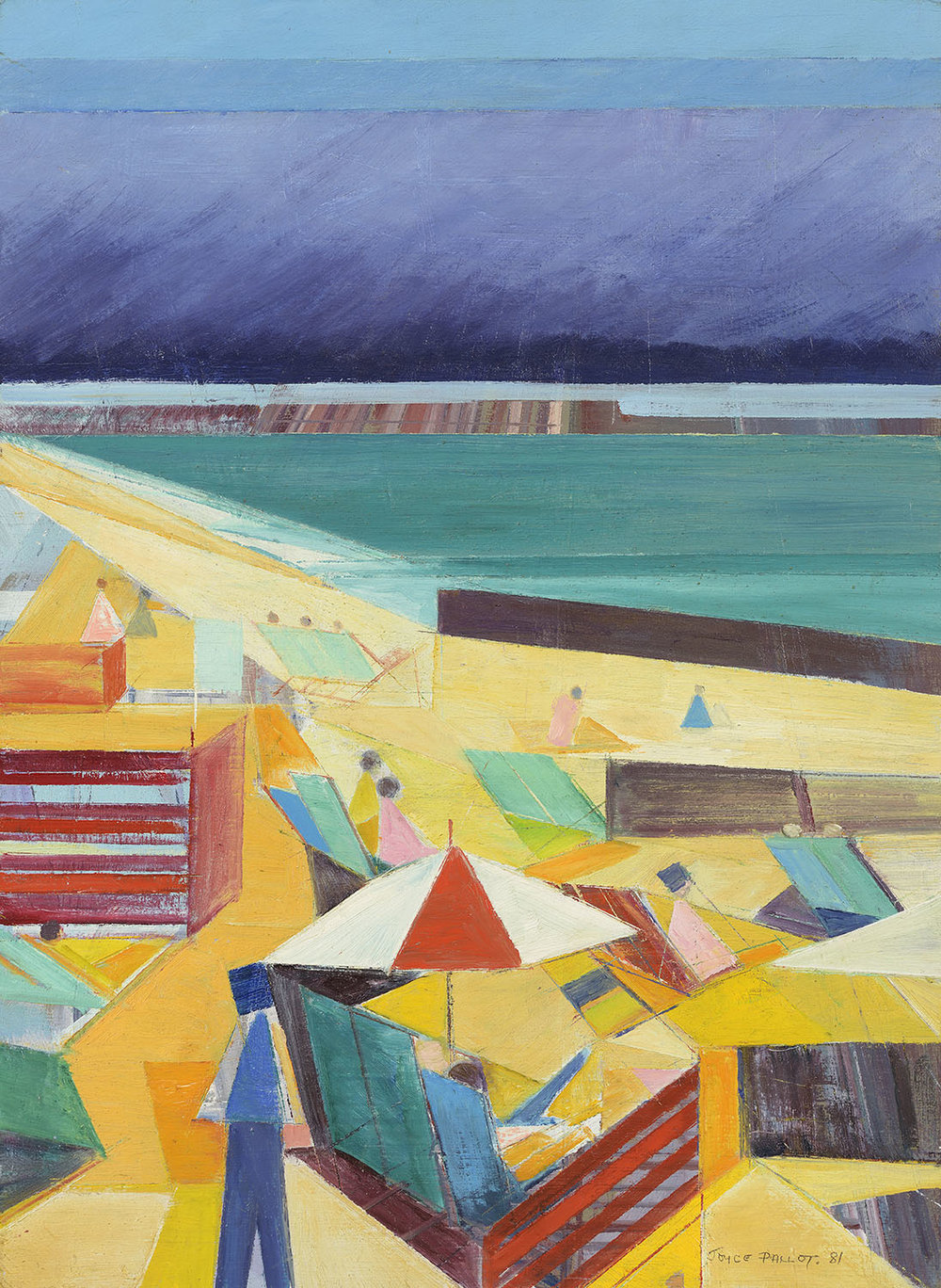 Joyce Pallot (1912-2004)    Essex Seaside,  1981, Oil on board, 15 ½ x 11 ½ in, Signed and dated  [CAS 60]