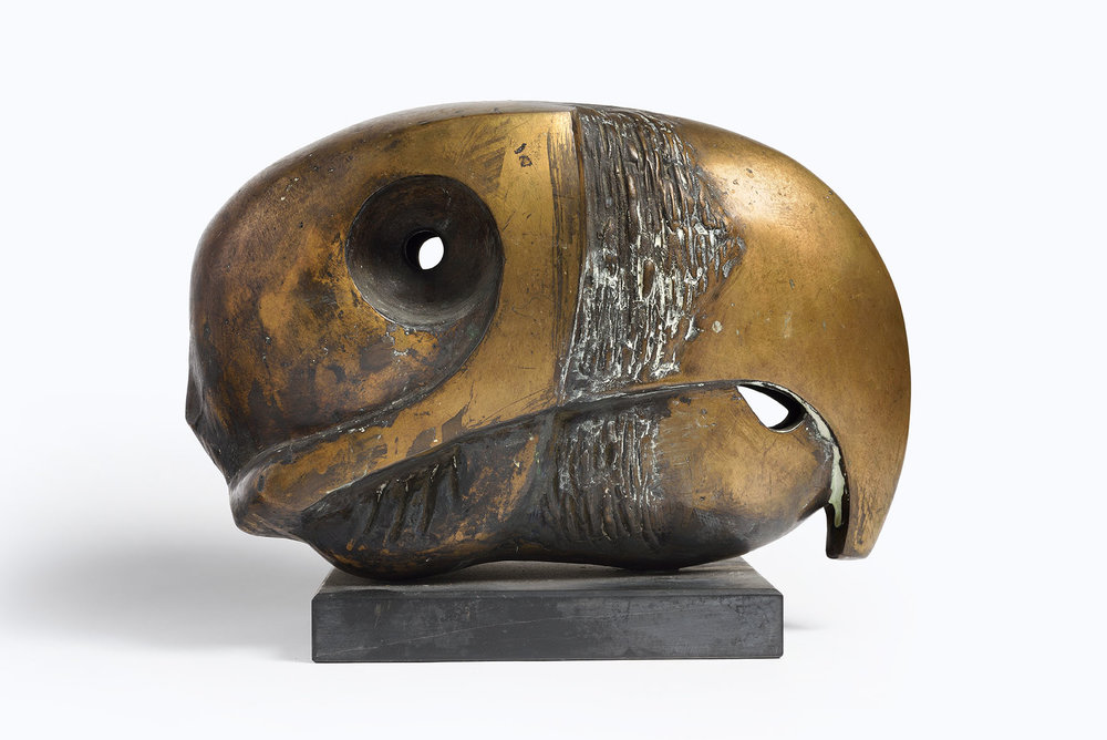 Bernard Reynolds (1915-1997)    Parrot Head,  1971, Bronze and slate, 9 x 12 in  [CAS S2] Acquired in 1980