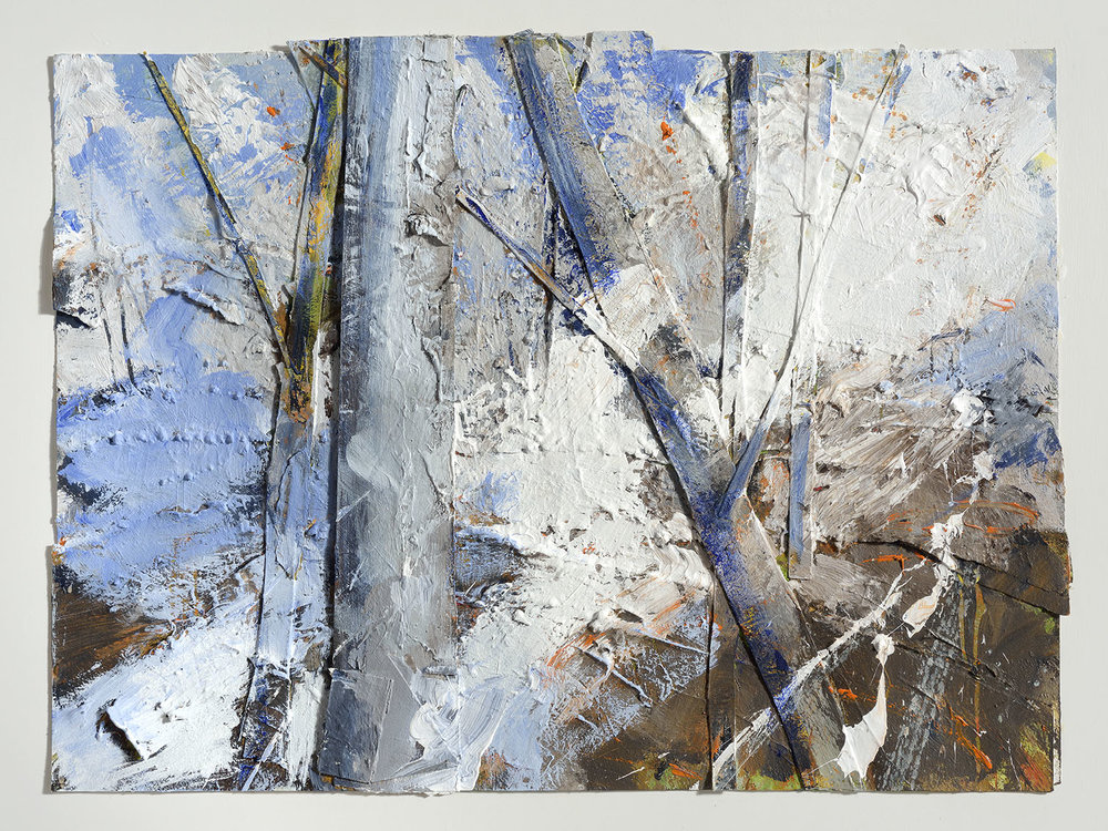 Nathaniel Young (b.1940)    Light through Woodland, West Bergholt,  2008, Mixed media on card, 22 x 30 in  [CAS 65] Acquired in 2010