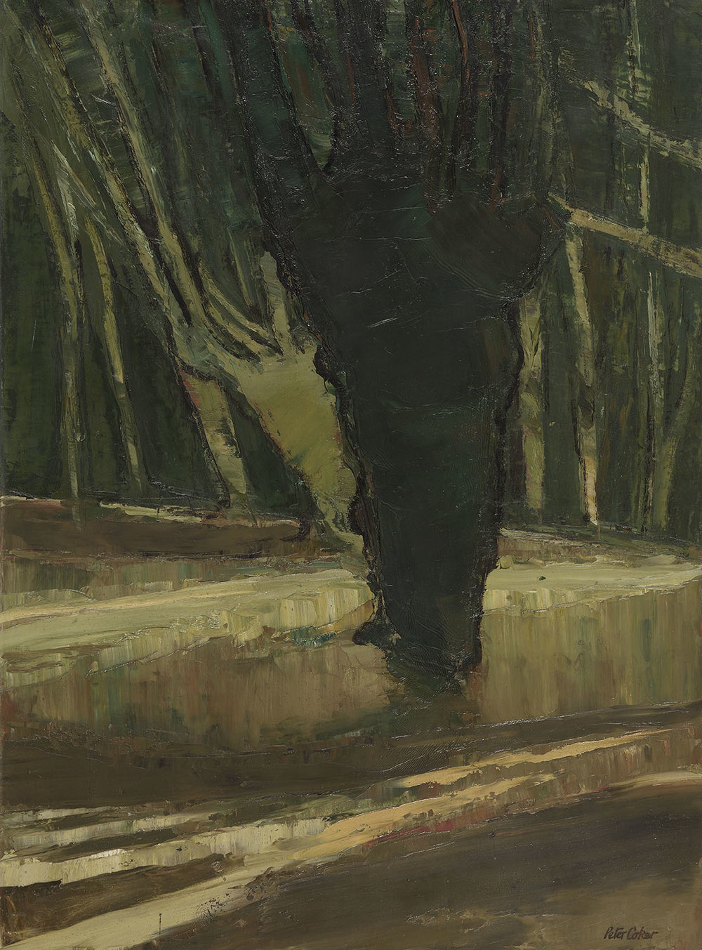Peter Coker RA (1926-2004)    Epping,  1964, Oil on canvas, 30 x 24 in, Signed  [CAS 14] Acquired in 1973