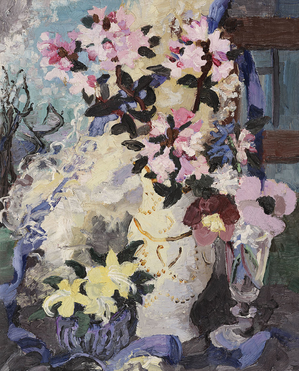 Lucy Harwood (1893-1972)    Spring Flowers,  c. 1962, Oil on canvas, 20 x 16 in  [CAS 4] Gift from John Bensusan-Butt in 2001