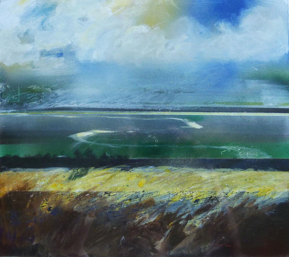 Fenlandia , Acrylic on board, 30 x 30 cm