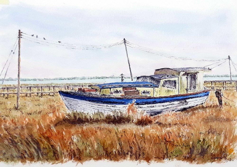 Boat Rest , Oil, 22 x 32 cm