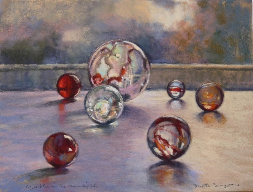 Marbles in the Moonlight , 9.25 x 7 in
