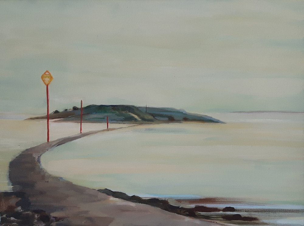 Causeway , Oil on canvas, 30 x 40 cm