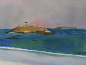 Friday in June, St. Malo , Oil on canvas, 30 x 40 cm