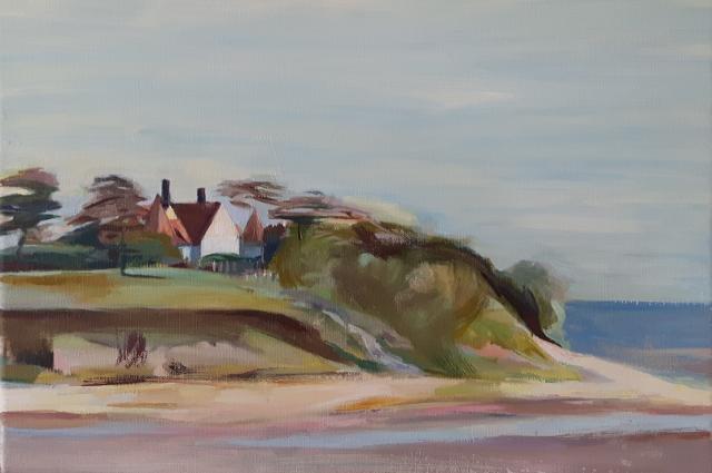 Osea Island , Oil on canvas, 30 x 40 cm