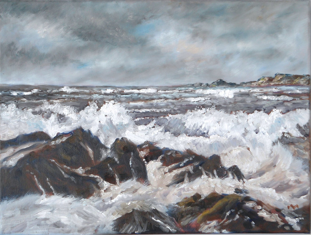 Wild Seas , Oils, 40 x 30 cm