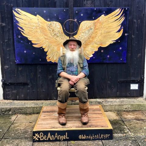 Be an Angel , Interactive art installation, 2 x 2 m
