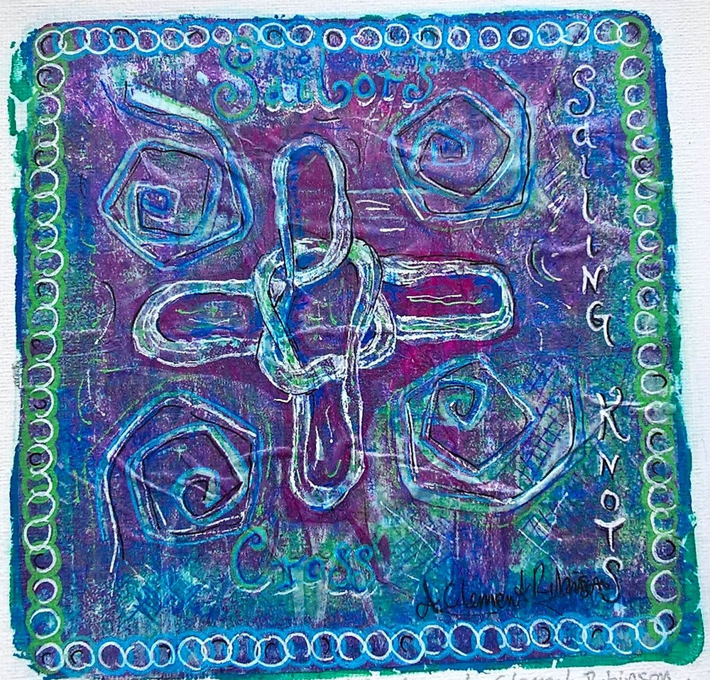 WP , Acrylic on canvas, 20 x 20 cm