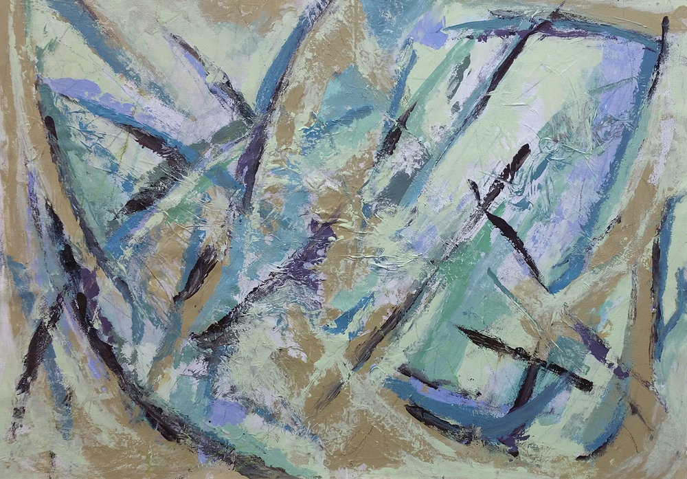 Sword Play , Mixed media, 60 x 80 cm