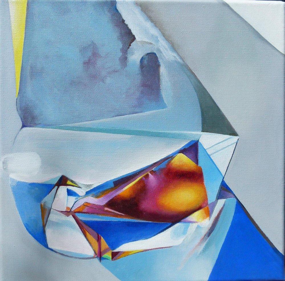 Fractured Light 3,  Acrylic on canvas 30 x 30 cm
