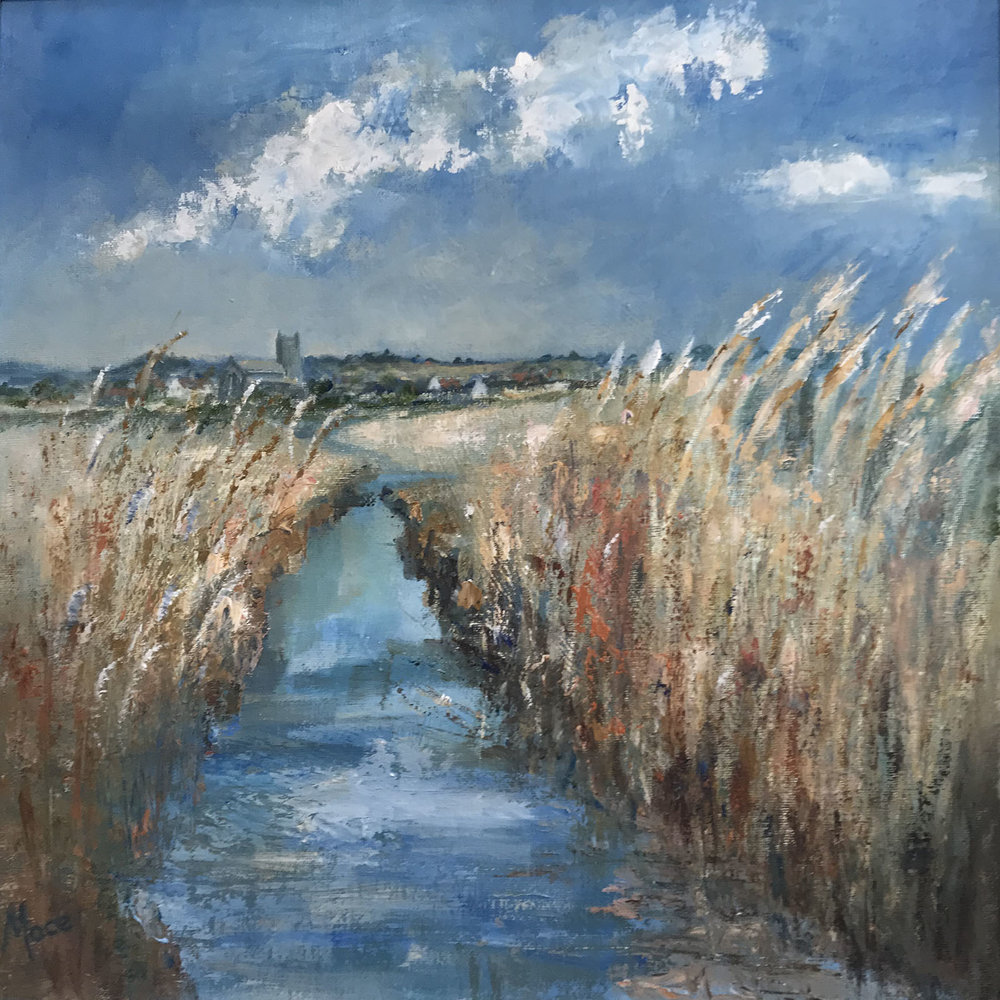 Salthouse Marsh , Oil, 16 x 16 in