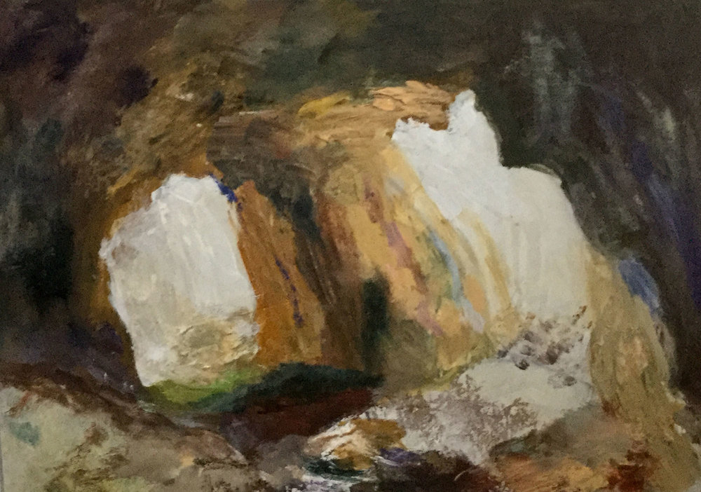 Hodge Close Quarry , Mixed media, 29 x 40 cm