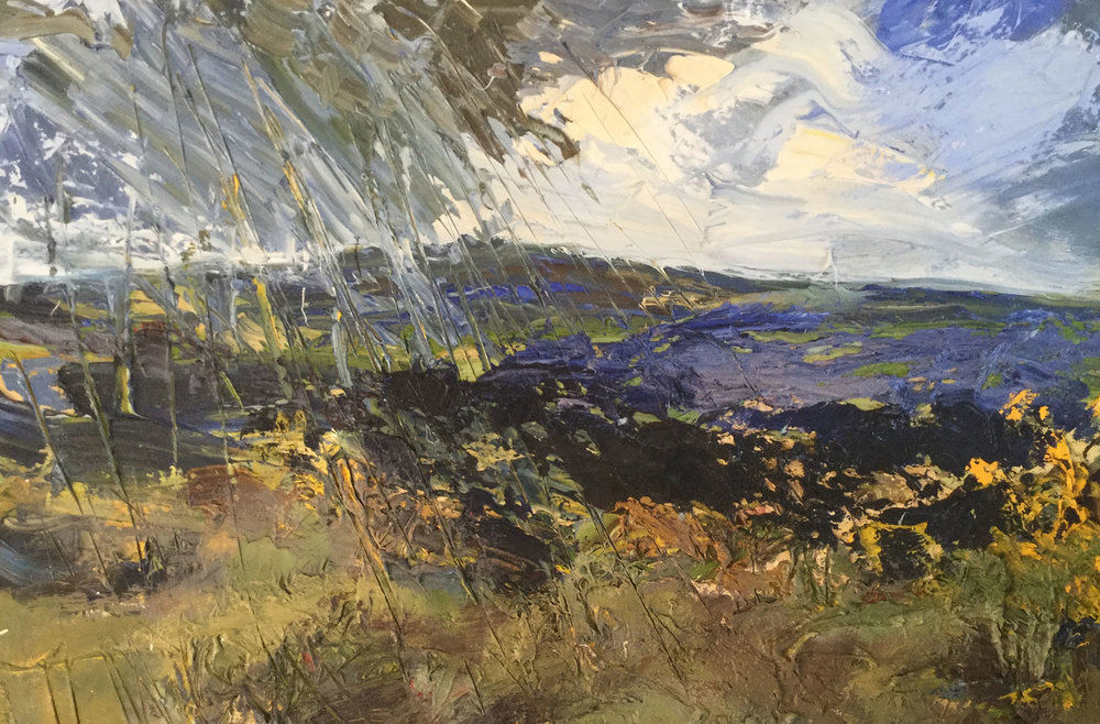 Ingleborough, Mixed!  Oil, 59 x 91 cm