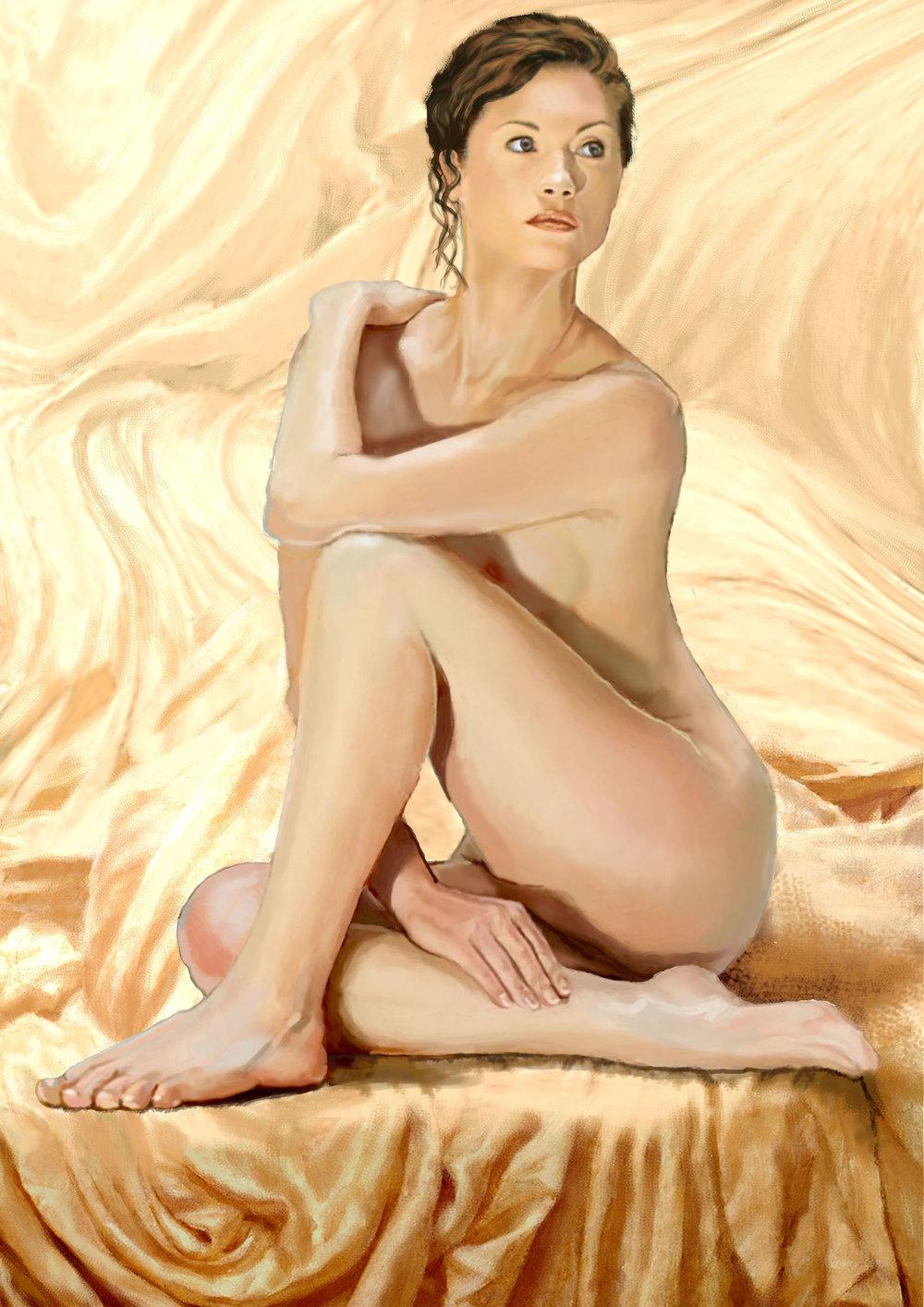 Digital Woman , Digital painting