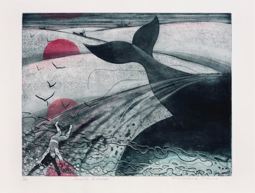 Jonah's Escape , Etching, 45 x 57 cm