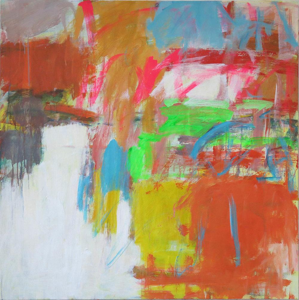 Ramblings , Acrylic on canvas, 90 x 90 cm