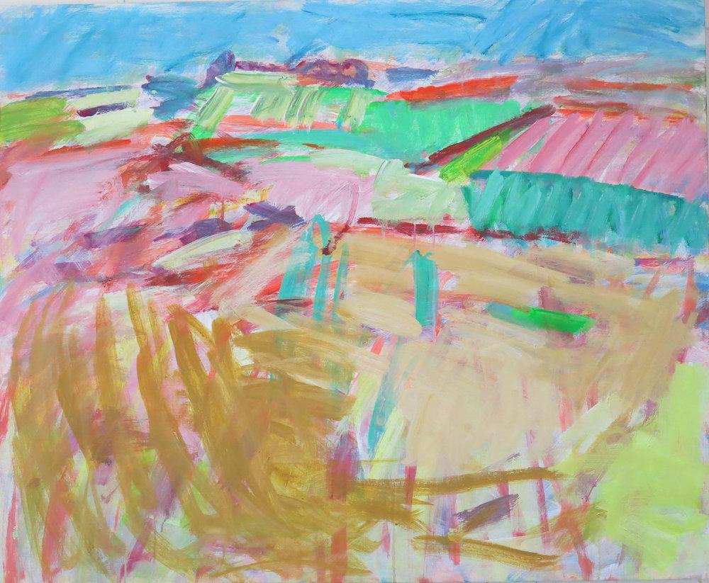 Essex Fields , Acrylic on canvas, 110 x 90 cm