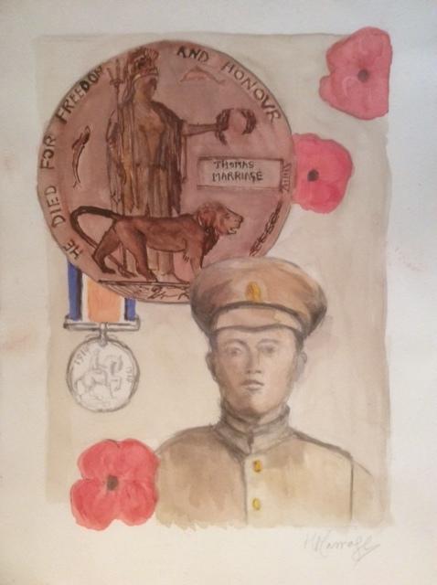 Commemoration , Watercolour, 38 x 28 cm