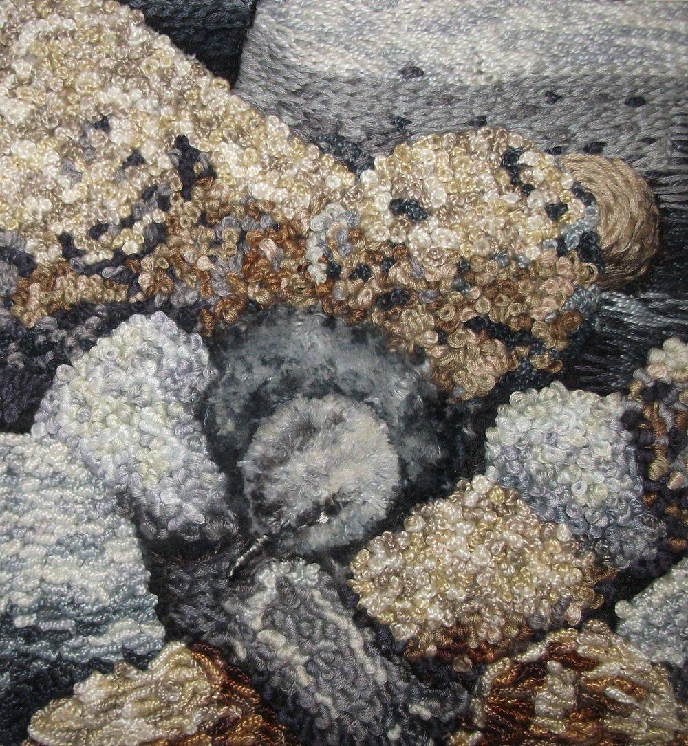 Turnstone Chick , Textile, 16.5 x 17.5 cm