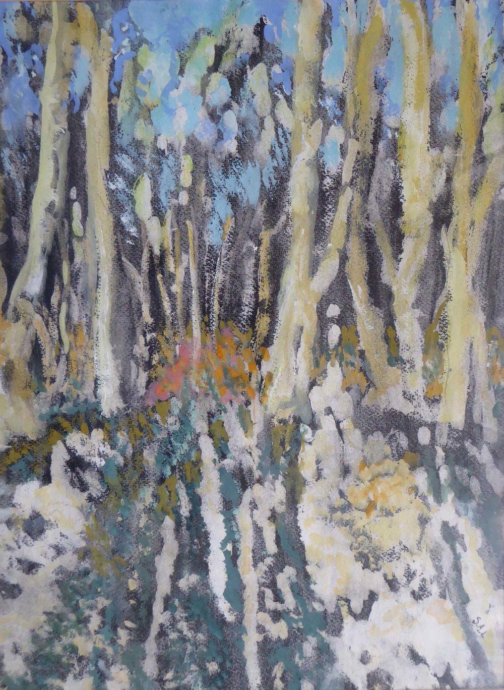 Autumn Glow , Gouache and ink, 39 x 29 cm