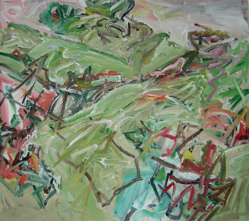 The Valley , Acrylic on canvas, 92 x 105 cm