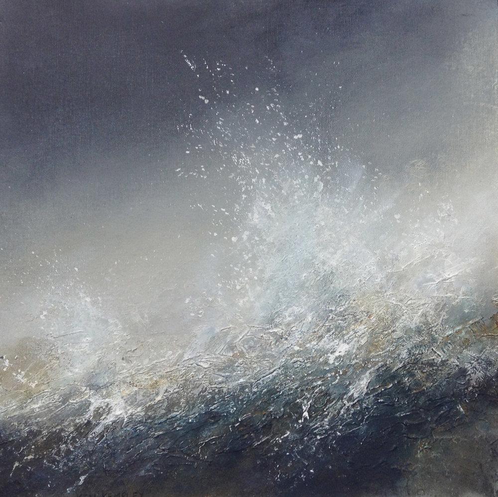 Storm Force , Acrylic on canvas board, 62 x 62 cm