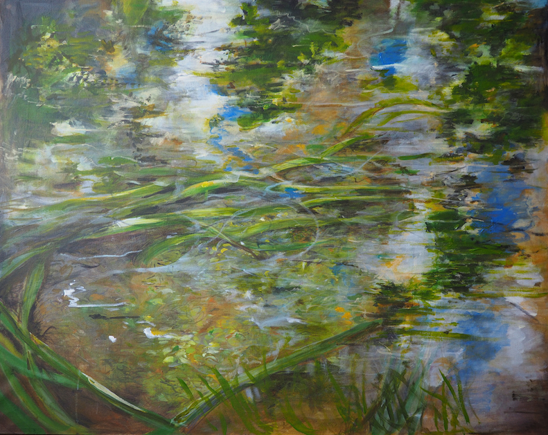 River Fish,  Acrylic, 84 x 66 cm