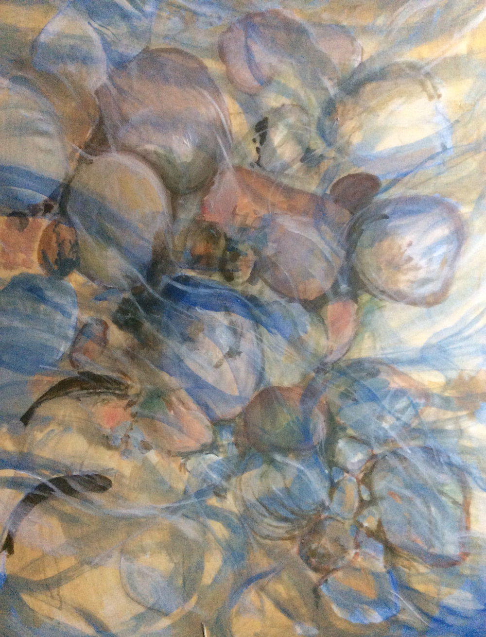 Winter River , Acrylic, 84 x 58 cm