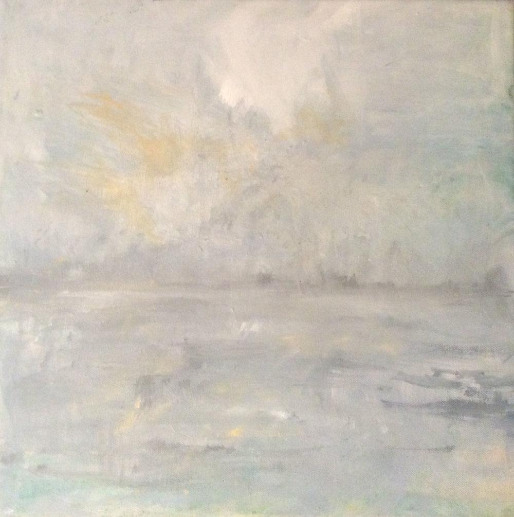 It Rained Today,  Acrylic, 30 x 30 cm
